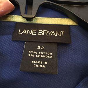 Lane Bryant button down long sleeve shirt.